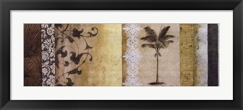 Framed Decorative Palm I Print