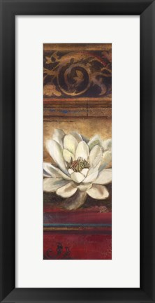 Framed Red Eclecticism with Water Lily Print
