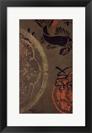 Framed Koi Shield II Print
