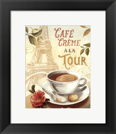 Framed Cafe in Europe II Print