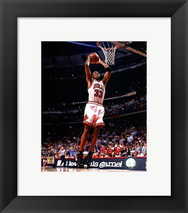 Framed Scottie Pippen 1996 Action Print