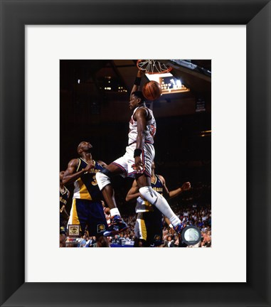 Framed Patrick Ewing 1994-95 Action Print
