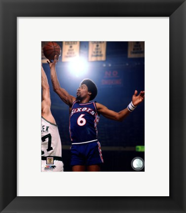Framed Julius Erving 1975 Action Print