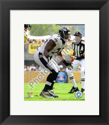 Framed Michael Oher 2010 Action Print