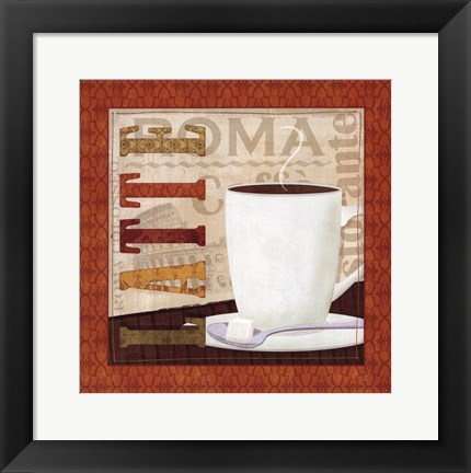 Framed Coffee Cup IV Print
