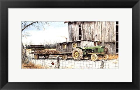 Framed Winter on the Farm Print