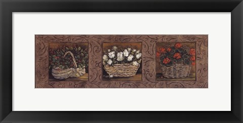 Framed Floral Baskets Print