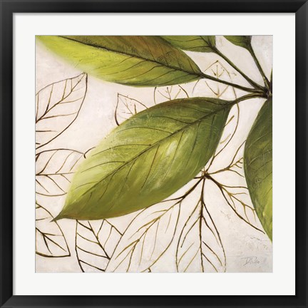 Framed Fresh Leaves I Print