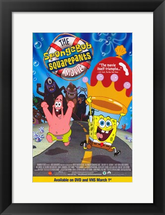 Framed SpongeBob SquarePants Movie Cartoon Print