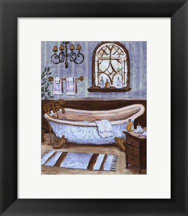 Framed Tranquil Tub II - mini Print