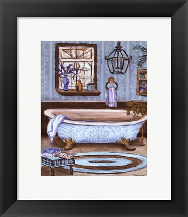 Framed Tranquil Tub I - mini Print
