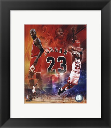 Framed Michael Jordan 2011 Legends Composite Print