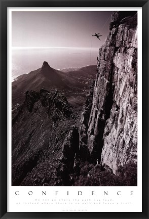 Framed Confidence - Table Top Mountain Print