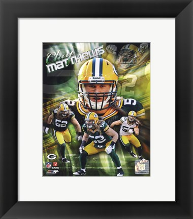 Framed Clay Matthews 2011 Portrait Plus Print
