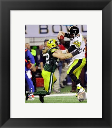 Framed Clay Matthews Action from Super Bowl XLV Print