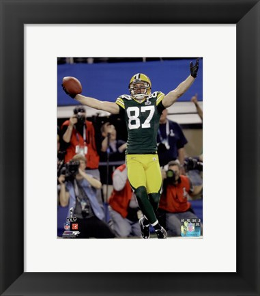 Framed Jordy Nelson Touchdown Celebration from Super Bowl XLV Print