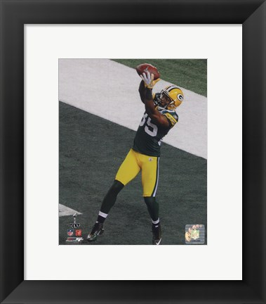 Framed Greg Jennings Touchdown from Super Bowl XLV Print