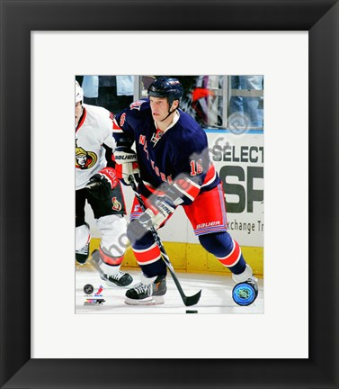 Framed Sean Avery 2010-11 Action Print