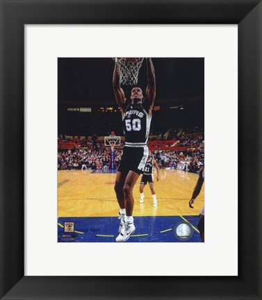 Framed David Robinson 1990 Action Print