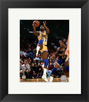 Framed Magic Johnson 1989 Action Print