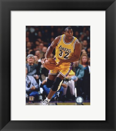 Framed Magic Johnson 1995-96 Action Print