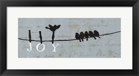 Framed Birds on a Wire - Joy Print