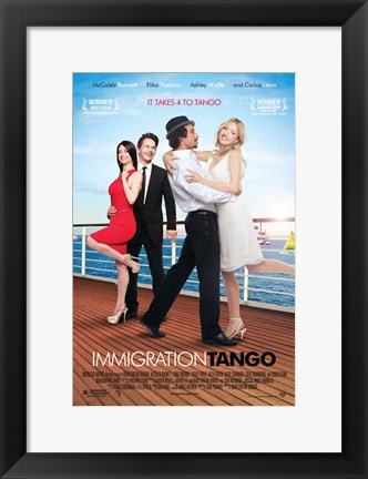 Framed Immigration Tango Print