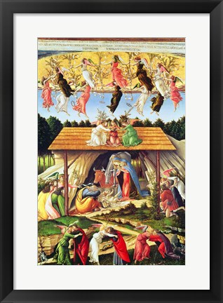 Framed Mystic Nativity, 1500 Print