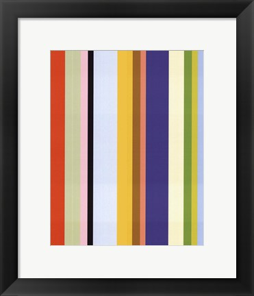 Framed Curry Stripe Print
