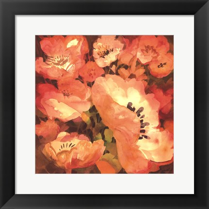 Framed Pink Poppies II Print