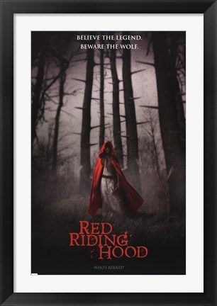 Framed Red Riding Hood - Who's Afraid Print