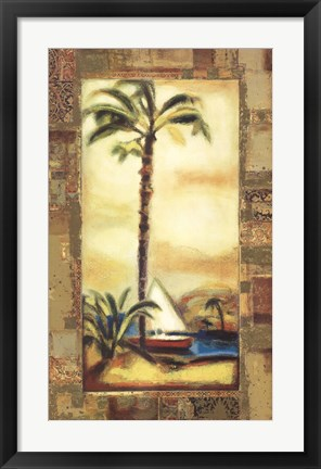 Framed Tropical Gold I Print