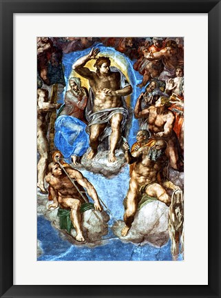 Framed Christ, detail from 'The Last Judgement', in the Sistine Chapel Print