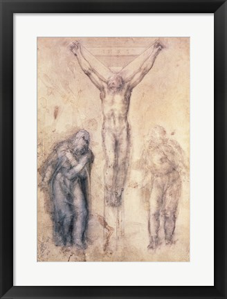 Framed Inv.1895-9-15-509 Recto W.81 Study for a Crucifixion Print