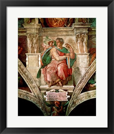 Framed Sistine Chapel Ceiling: The Prophet Isaiah Print