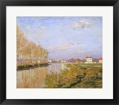 Framed Seine at Argenteuil, 1873 Print