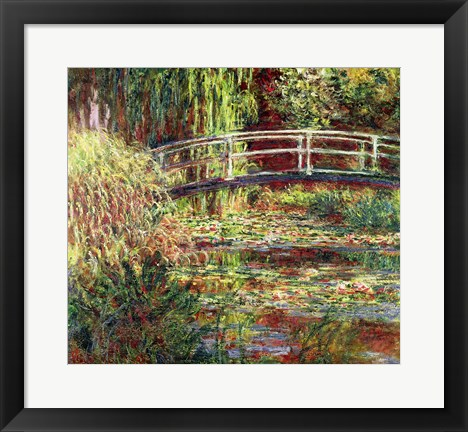 Framed Waterlily Pond: Pink Harmony, 1900 Print