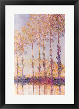 Framed Poplars on the Banks of the Epte, 1891 Print