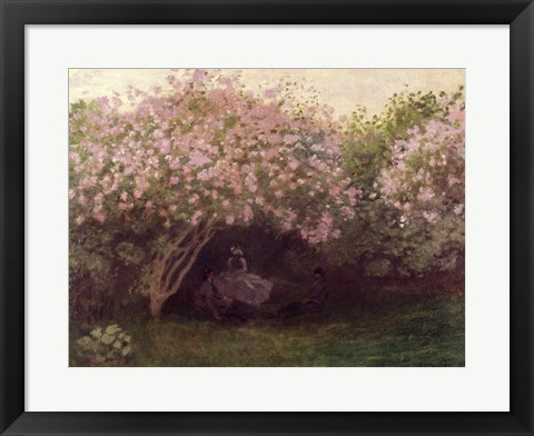 Framed Lilacs, Grey Weather, c.1872-73 Print