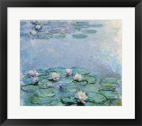 Framed Water Lilies Print