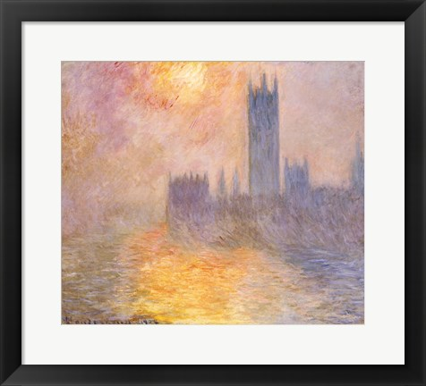 Framed Houses of Parliament, Sunset, 1904 Print
