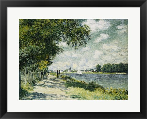 Framed Seine at Argenteuil, 1875 Print