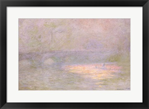 Framed Waterloo Bridge Print