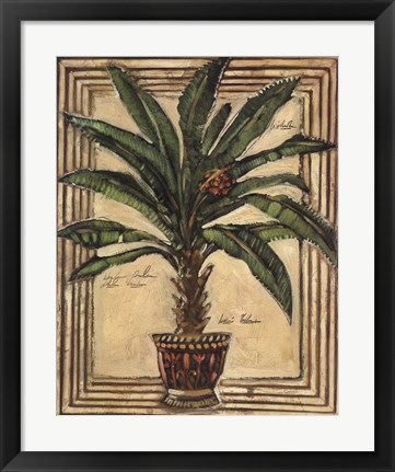 Framed Potted Palm II Print
