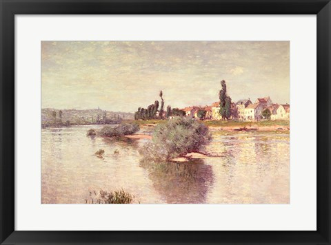 Framed Seine at Lavacourt, 1880 Print