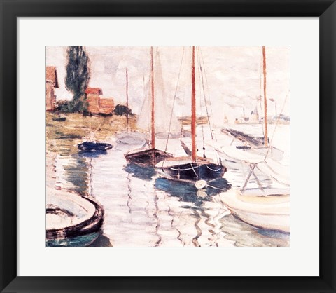 Framed Sailboats on the Seine Print