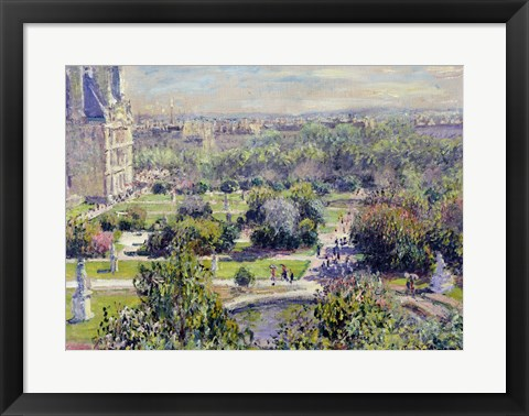 Framed View of the Tuileries Gardens, Paris, 1876 Print