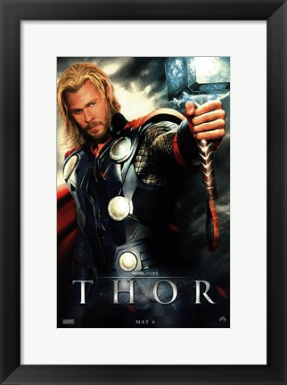 Framed Thor Movie Print
