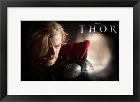 Framed Thor  Chris Hemsworth Print