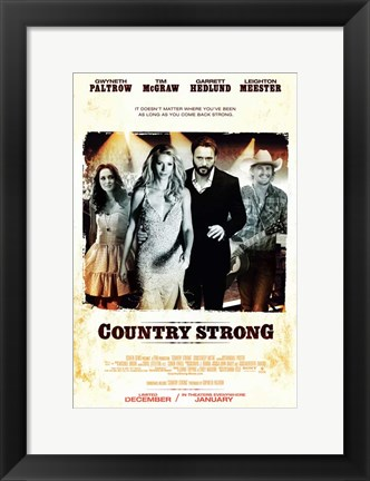 Framed Country Strong Print